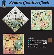 Hot Off The Press Clock Kit - Square