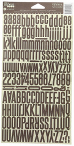 Alphabeans Large Cardstock Stickers 7'X12'-Fig Brown