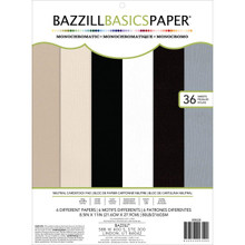 American Crafts Bazzill Basics Mono Cardstock Paper Pads with 36 Sheets, 8.5'...