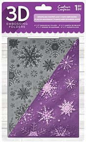 Crafter's Companion Die'sire EF5-3D-X-SSNOW 3D Embossing Folder, Clear