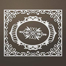 Ultimate Crafts Ooh La La Die-Livi Frames & Flourish, 4.3'X3.4'