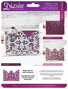 Crafter's Companion Create-A-Card Die'sire Traditional Lace