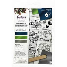 Crafter's Companion Foil Transfer Kit Contemporary Holiday Sentiments CC-FOILKIT-Cons