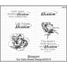 Our Daily Bread Blossom Cling Unmounted Rubber Stamp (H635)