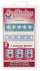 Spellbinders Borderabilities Petite Dies 5-1/2-Inch, Snowflake