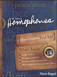 All About Homophones Activity Book