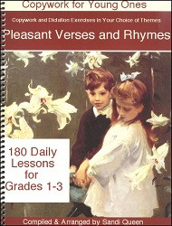 Copywork - Pleasant Verses and Rhymes