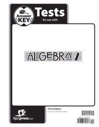 Algebra 2 Test Key (3rd edition)