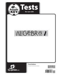 Algebra 2 Test Key (3rd edition)