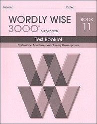 Wordly Wise 3000 Grade 11 Test