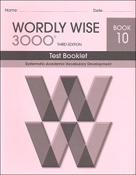 Wordly Wise 3000 Grade 10 Test