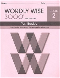 Wordly Wise 3000 Grade  2 Test