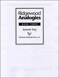 Ridgewood Analogies Book 3 Key
