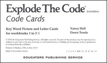Explode the Code Cards