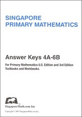 Primary Mathematics 4A-6B Answer Key