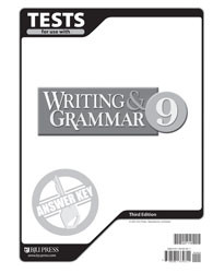 Writing and Grammar 9 Test Answer Key (3rd Ed.)