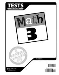 Math 3 Test Answer Key (3rd Ed.)