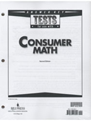 Consumer Math Test Answer Key (2nd Ed.)