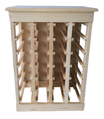 Pine 24-Bottle Wine Rack
