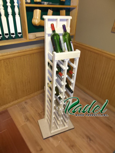 24-Bottle Display with Base (Pine)