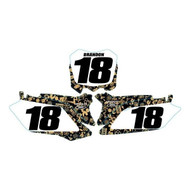 HONDA CUSTOM Mayhem Number Plate Graphic Kit