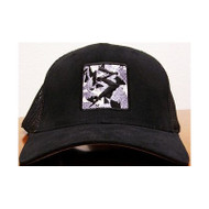 Black Camo Patch Flexfit Trucker Hat