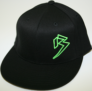 Flat Bill Black with outline B hats (CLICK FOR COLOR OPTIONS) SKU # 0208-01
