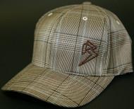 Plaid Brown/Khaki hats SKU # 0217-17