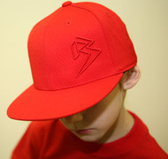 Youth Flat Bill Red hats SKU # 0208-06Y