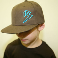 Youth Flat Bill Brown hats SKU # 0208-08Y