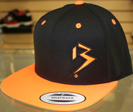 Two Tone Outline B Black & Orange SNAPBACK SKU # 0238-0107
