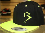 Two Tone Outline B Black & Neon Green SNAPBACK SKU # 0238-0112