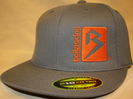 B Box Dark Gray & Orange 210 Fitted Flat Bill SKU # 0208-1507