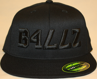 B477Z Black on Black 210 Fitted Flat Bill SKU # 0248-0101