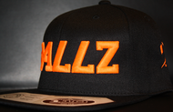 B477Z Black & Neon Orange SNAPBACK SKU # 0258-0107