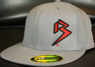 Two Tone Outline B Red/Black on Dark Grey Hat SKU # 0229-150601