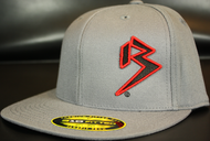 Two Tone Outline B Black/Red on Dark Grey Hat SKU # 0229-150106