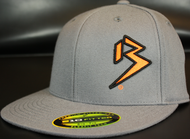 Two Tone Outline B Orange/Black on Dark Grey Hat SKU # 0229-150701