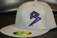Two Tone Outline B Purple/Black on Dark Grey Hat SKU # 0229-152501
