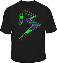 BLITZ T-Shirt Black/Neon Green/Purple Sku # 0151-0112