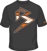 BLITZ T-Shirt Charcoal/Orange/White Sku # 0151-1507