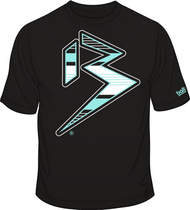 BLITZ T-Shirt Black/Aqua/White Sku # 0151-0104