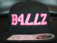 B477Z Black & Neon Pink SNAPBACK SKU # 0258-0124