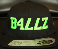 B477Z Black & Neon Green SNAPBACK SKU # 0258-0112