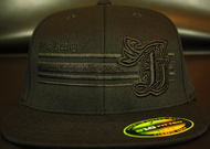 BR logo Black/Black on all Black 210 Premium Fitted Sku # 0283-010101