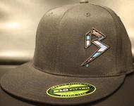 BLITZ Hat Black/Cyan/Neon Pink on all Black 210 Premium Fitted Sku # 0251F-018824