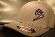 BLITZ Hat Black/Purple/Charcoal on Dark Grey Curved Bill Sku # 0251C-152515