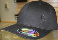 Original B emblem Black on Black B curve bill Flexfit hat SKU # 0281-0101