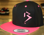 Two Tone Outline B Black & Neon Pink SNAPBACK SKU # 0238-0124