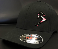 BLITZ Hat Black/Pink/White on all Black Curved Bill Sku # 0251C-012402